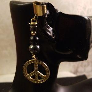 Peace sign Ear cuff, locks cuff, braids cuff